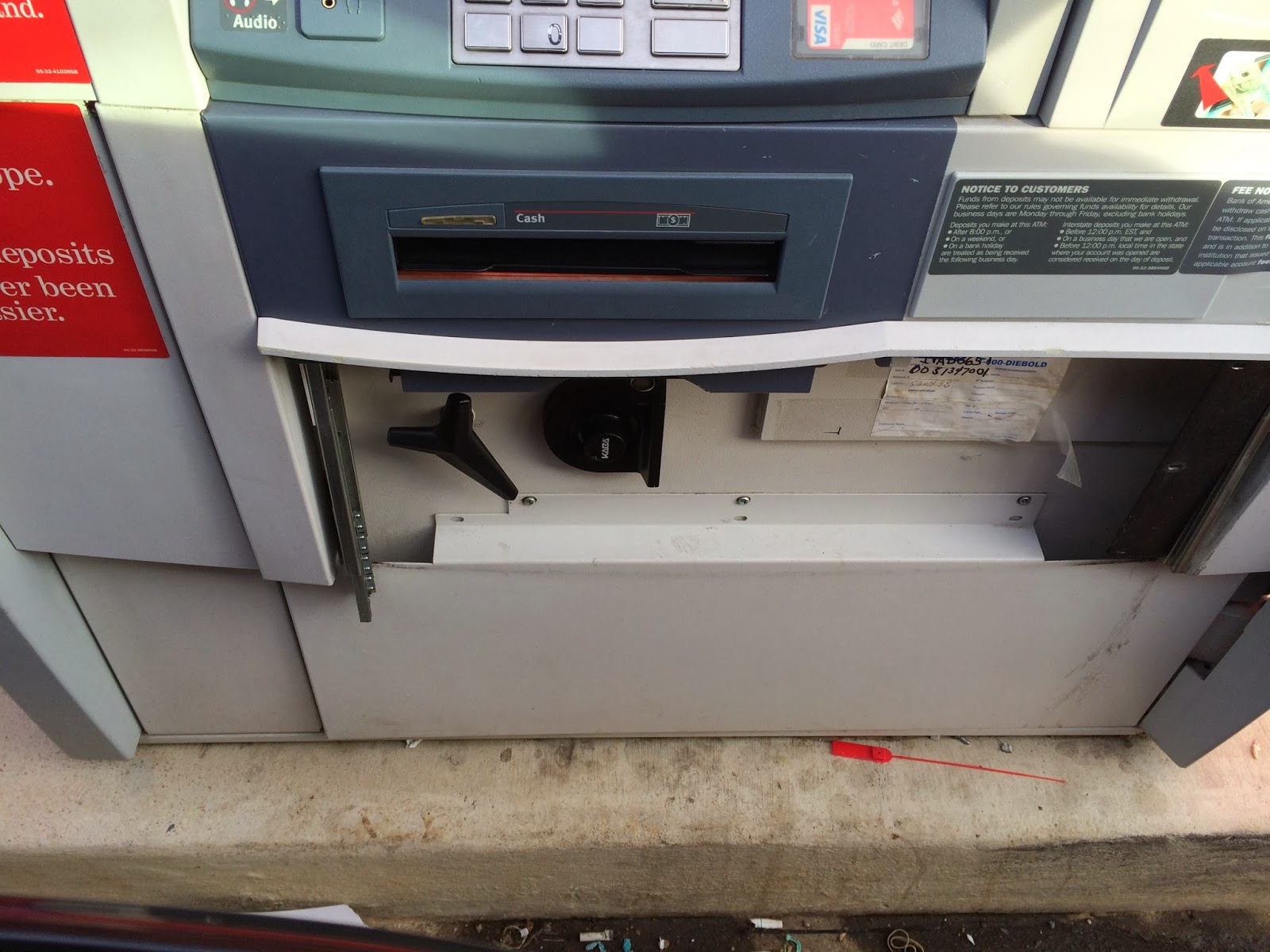 Kaba Lock on an ATM
