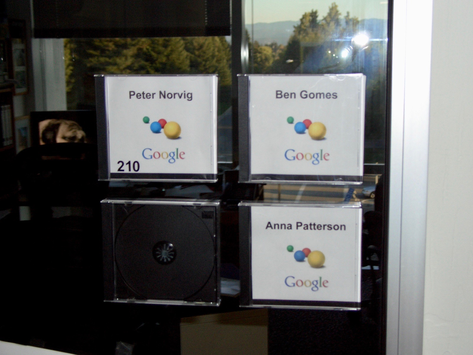 Peter Norvig's shared office